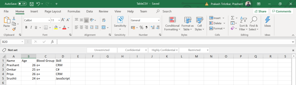 read values from an Excel / CSV file in C#