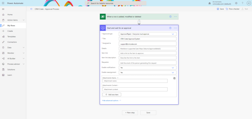 Approval Process using Power Automate in CRM